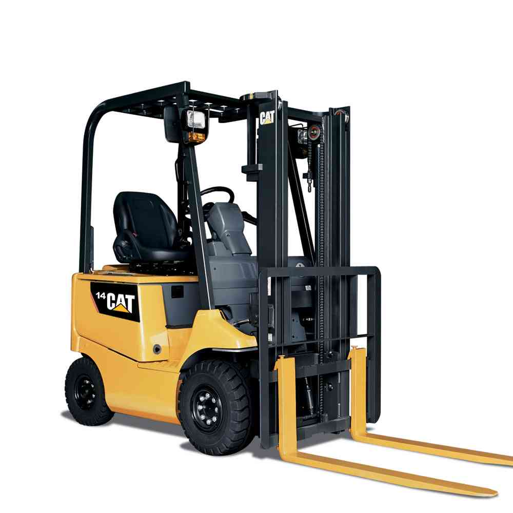 Cat-4-wheel-Electric-Forklift-EP14CA