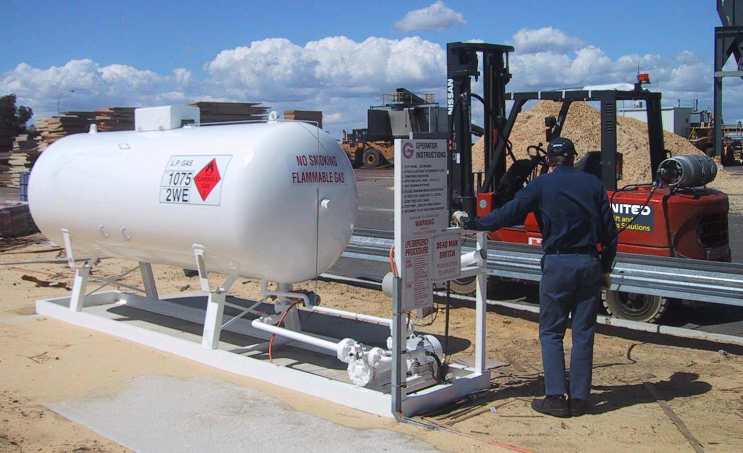Bulk LPG storage tanks for forklifts from United