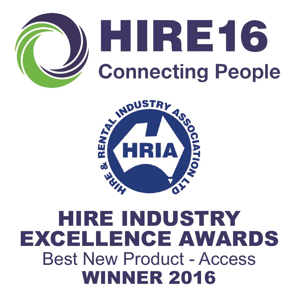 Athena Bi-levelling Tracked Scissor lift won the 2016 Hire 16 Award for Best New Product Access