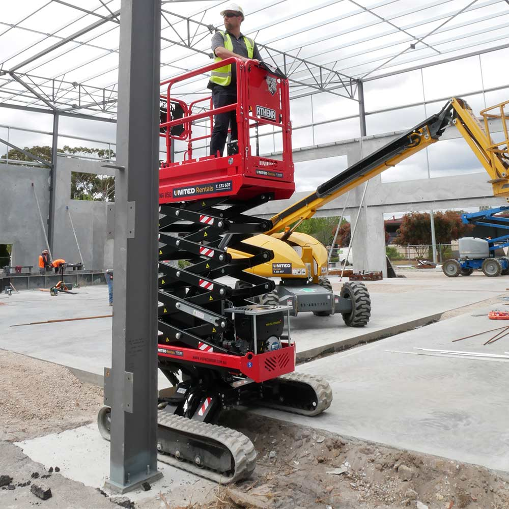 Athena bi-levelling tracked scissor lift demonstration video