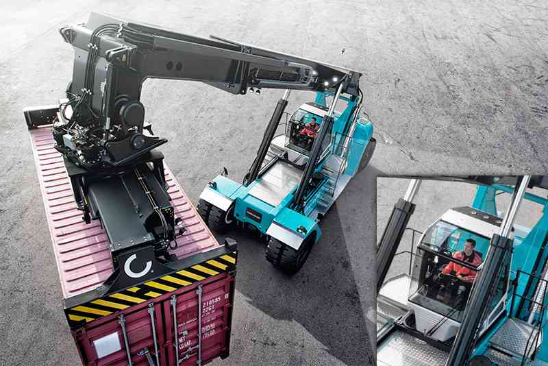 Konecranes Optima cabin provides outstanding visibility to the operator.