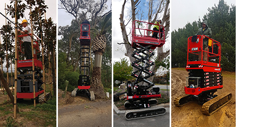Athena scissor lift is ideal for construction sites