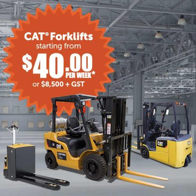 Cat forklift end of financial year sale
