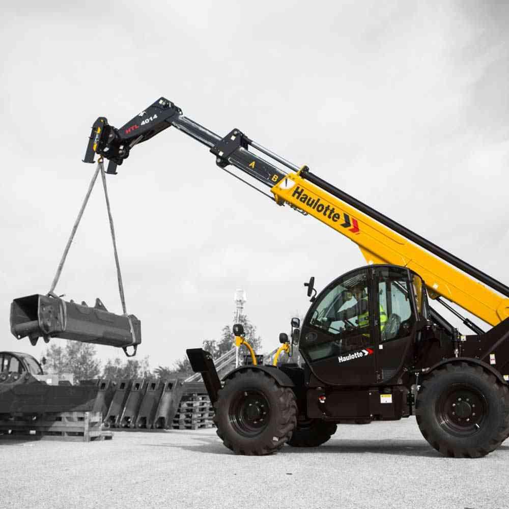 Telescopic Forklift Controls : Haulotte high lift telehandler htl united equipment