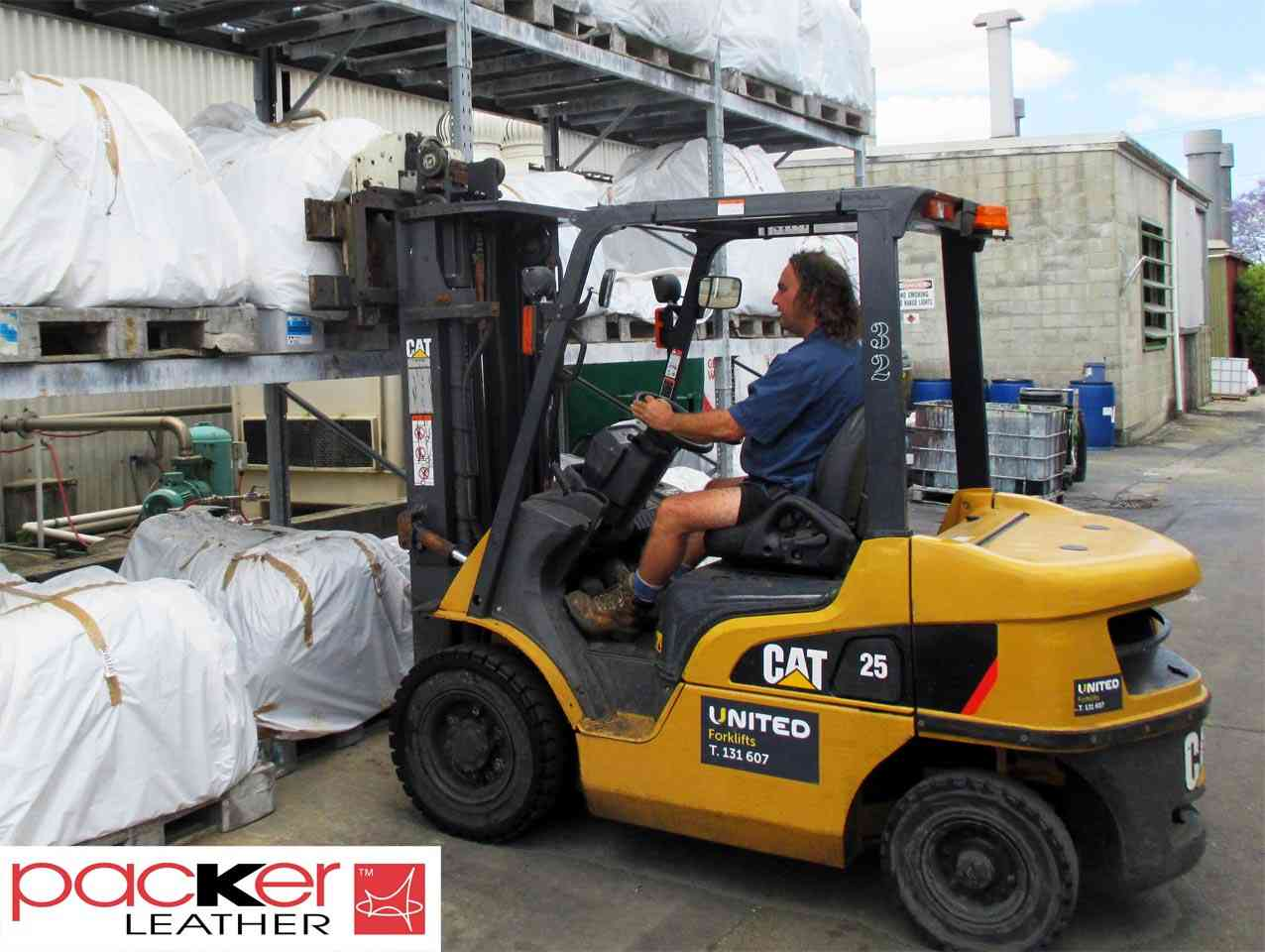 Packer Leather using United's CAT DP25N forklifts to lift uptime, efficiency and safety.