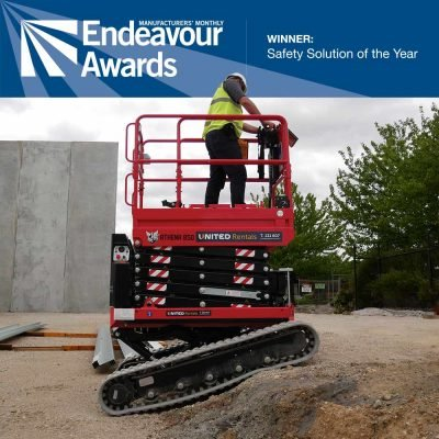 Athena bi-levelling tracked scissor lift wins Manufacturers Monthly Eneavour award for Safety Solution of the Year