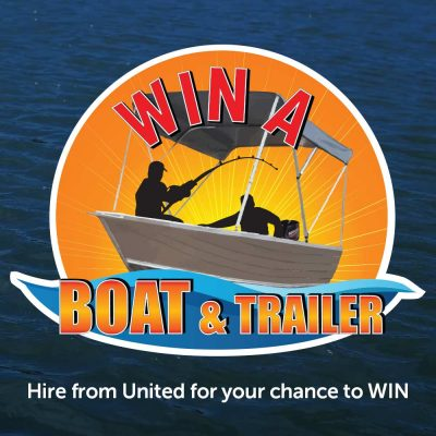 Hire with United for your chance to win a boat and trailer