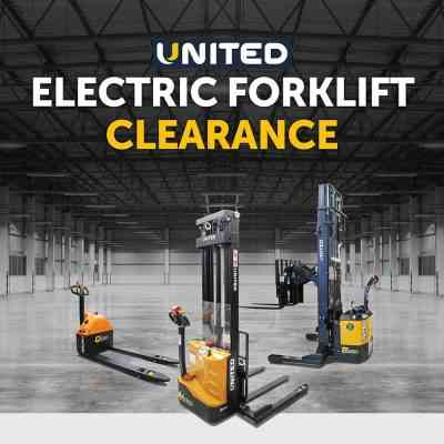 United electric forklift sale on now
