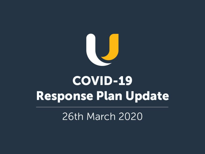 COVID-19 Response Plan Update - 26th March 2020