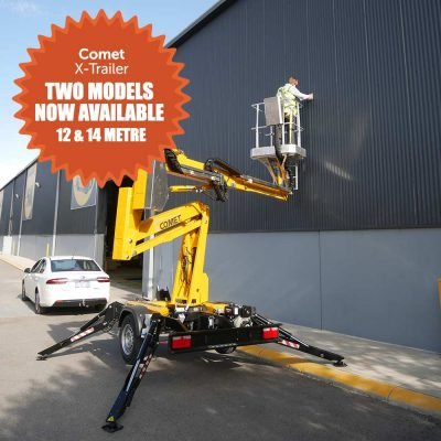 Comet trailer mounted boom lift now available