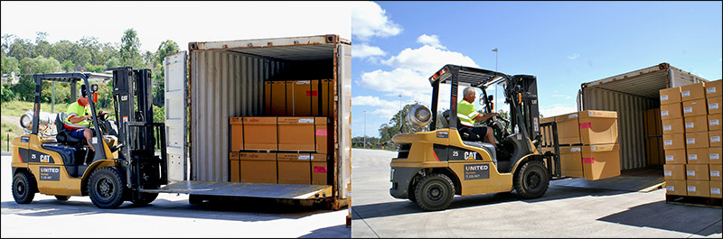Container forklift for hire