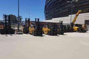 Cat forklifts needed for Ed Sheerin concert setup