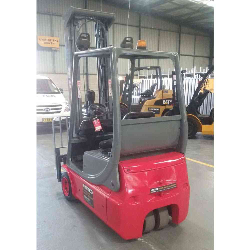 Linde 1.4T Used Electric Forklift E14 - Back view