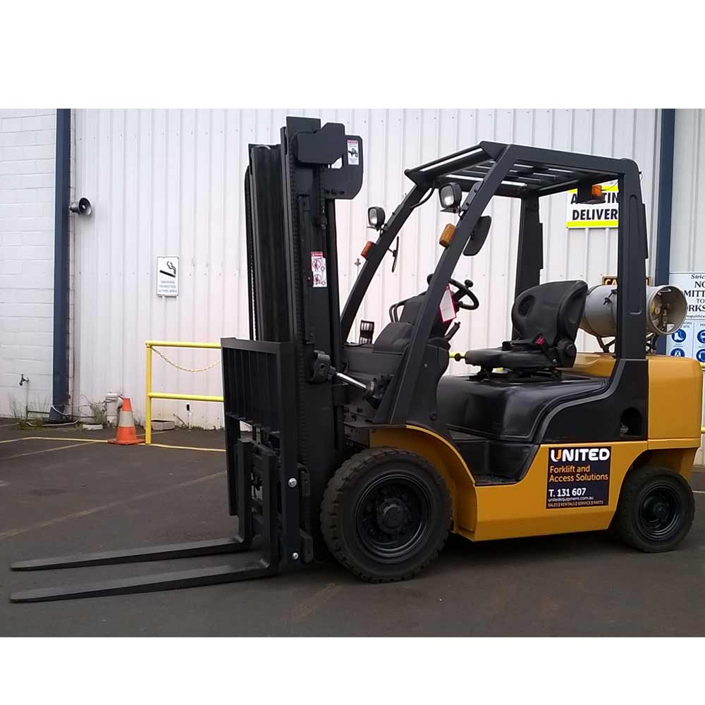 Nissan 2.5T Used LPG Forklift P1F2A25U - Profile view
