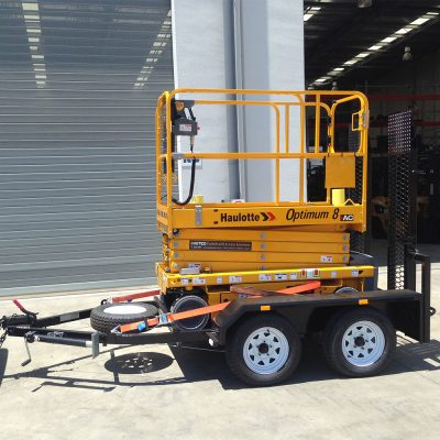 Electrric scissor lift and trailer EOFY special on now