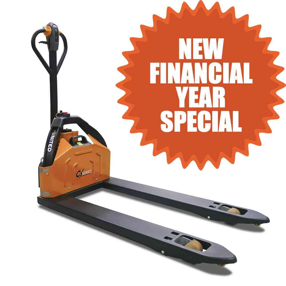 United C-Series NPP12E pallet truck on special for $3,500.00+gst.