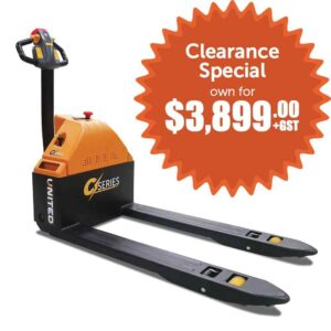 United C-Series NPP15E Pallet Truck on special