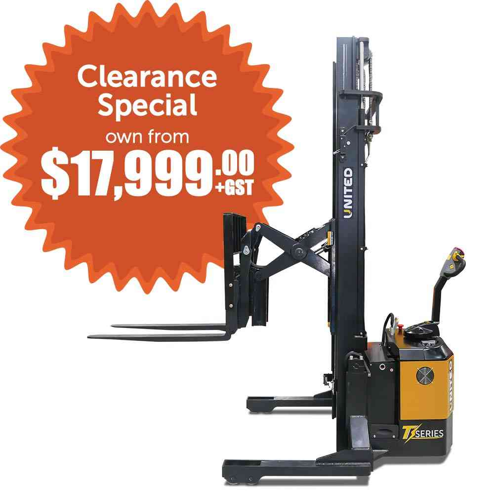 United T-Series NSX12EA Walkie Stacker now on special