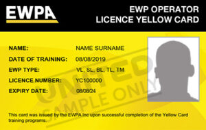 Yellow card license