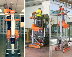 The Elevah electric ladder is ideafor installations, maintenance and cleaning.
