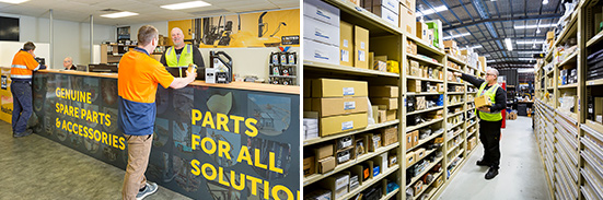 United's dedicated parts store provide all types of forklift parts and accessories
